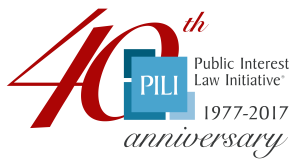 PILI 40th logo red transparent background
